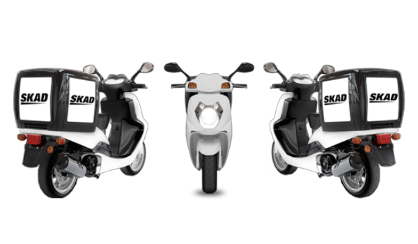 Picture of food delivery scooters